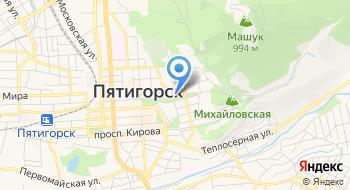 Часовня Василия Великого при Центральном военном санатории Пятигорска на карте