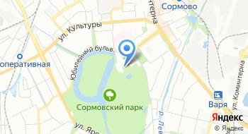 Сормовский парк культуры и отдыха на карте