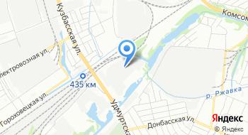 Комус-Приволжье, склад на карте