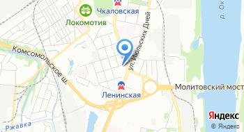 Нижегородский информационно-вычислительный центр РЖД, подразделение на карте