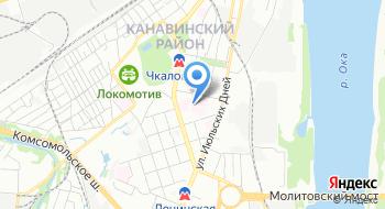 Ленинское отделение переливания крови № 1 филиал Нижегородского областного центра крови имени Н. Я. Климовой на карте