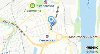 Управление Горьковской железной дороги на карте