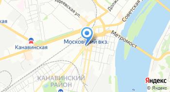 Печати на Московском на карте