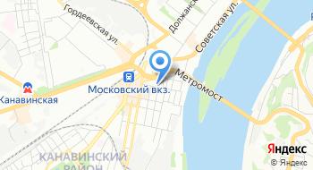 Военный комиссариат Нижегородской области по Ленинскому и Канавинскому районам в Нижнем Новгороде на карте