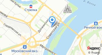 Выставочный комплекс Нижегородская ярмарка на карте