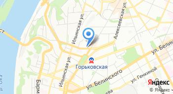 Управление ФСБ РФ по Нижегородской области на карте