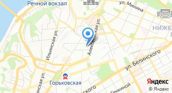 Московская биржа Приволжский филиал в г. Нижний Новгород на карте