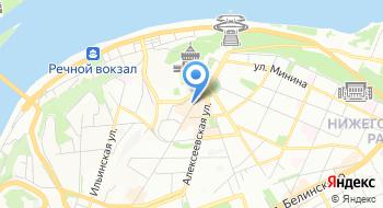 Нижегородское региональное отделение партии Яблоко на карте
