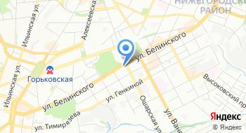 Отделение почтовой связи Нижний Новгород 603006 на карте