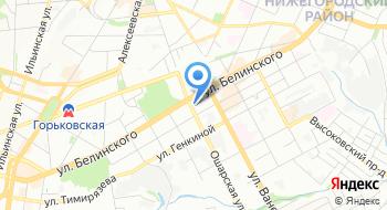 Территориальный орган Федеральной службы государственной статистики по Нижегородской области на карте