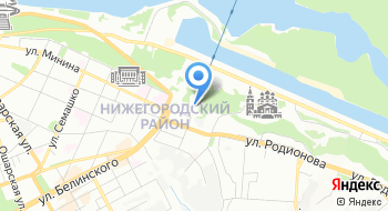 Нижегородская станция канатной дороги на карте