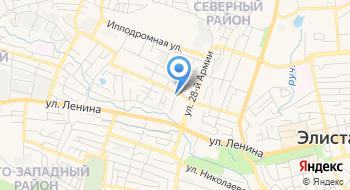 Отделение почтовой связи Элиста 358005 на карте