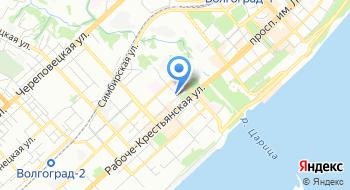 Российский речной регистр Нижне-Волжский филиал, Волгоградский участок на карте