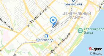 Центральный автовокзал г. Волгограда на карте