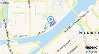 Городская больница г. Балаково на карте