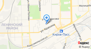 Следственный отдел по Ленинскому району города Киров Следственное управление Следственного комитета России по Кировской области на карте