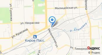 Отдел персонифицированного учета Управления ПФР в городе Кирове Кировской области на карте