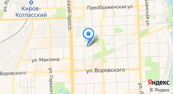 Детская художественная школа города Кирова МБУ ДО на карте
