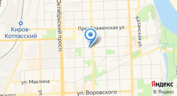 МБУДО Первая детская музыкальная школа г. Кирова на карте