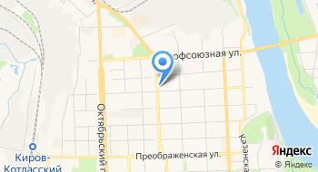 Отделение почтовой связи Киров 610020 на карте