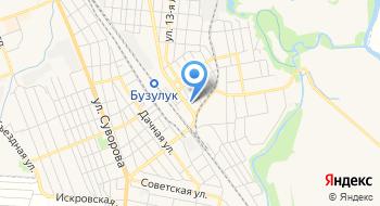 Линейный отдел полиции на станции Бузулук Оренбургского линейного отдела МВД России на транспорте на карте