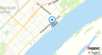Городской пляж Кировского района на карте