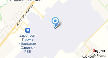 Аэропорт Большое Савино на карте