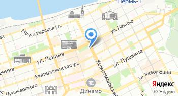 Домашний интернет Билайн в Перми, отдел продаж на карте