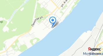 Дом у реки на карте