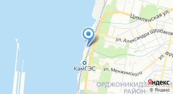 Городской пляж КамГЭС на карте