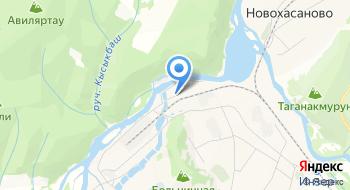 Газпром газораспределение Уфа, филиал в г. Белорецке, Инзерский участок на карте