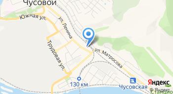 Межмуниципальный отдел МВД России Чусовской на карте