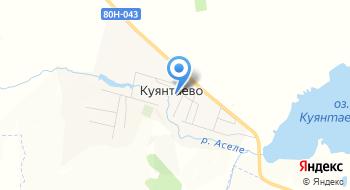 Отделение почтовой связи Куянтаево 453670 на карте