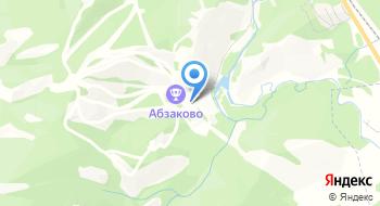 Горнолыжный курорт Абзаково на карте