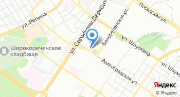 Конечная станция Волгоградская на карте