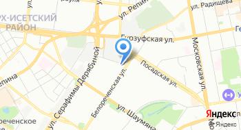Альфа-Банк. Кредитно-кассовый офис Екатеринбург-Аквамарин на карте
