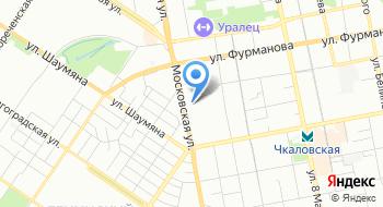 Сауна на Московской на карте
