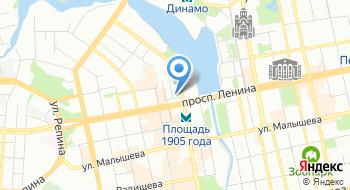 Вселенная красоты-Екатеринбург на карте