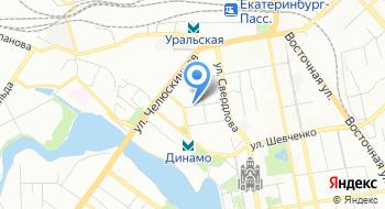 Уральское управление государственного железнодорожного надзора Федеральной службы по надзору в сфере транспорта на карте