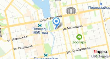 Министерство образования Свердловской области на карте