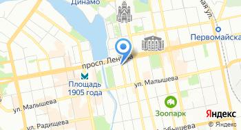 Управление ФНС России по Свердловской области на карте