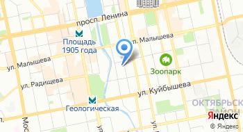 Управление вневедомственной охраны по городу Екатеринбургу на карте