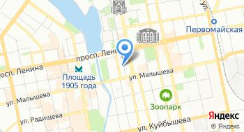 НИИ охраны труда города Екатеринбурга на карте
