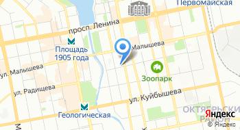Новотель Екатеринбург центр на карте