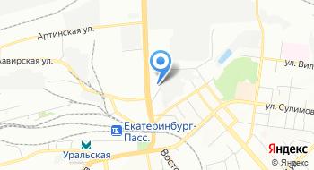 Автоэвакуатор Эвик Екатеринбург на карте
