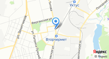 Конечная станция Вторчермет на карте
