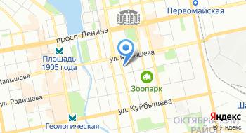 Свердловская областная научная библиотека им. в. Г Белинского на карте