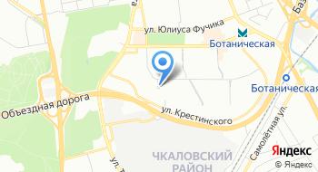 Конечная станция Ботаническая на карте