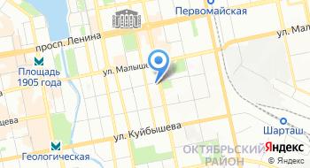 УПФР в Октябрьском районе г. Екатеринбурга на карте