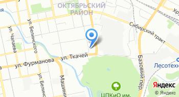 Конечная станция ЦПКиО на карте